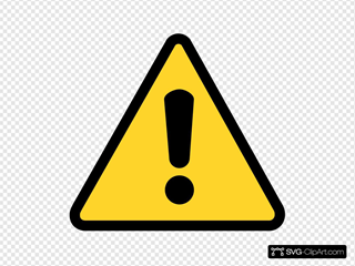 Warning Icon SVG Clipart
