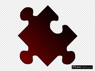 Puzzle Gradient Red-black