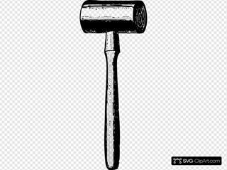 Mallet SVG Clipart