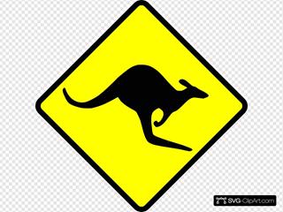 Caution Kangaroo