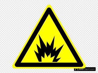 Hazard Warning Sign: Explosion SVG Clipart