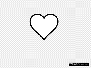 Thick Line Heart Clipart
