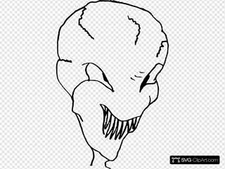 Alien Head SVG Clipart