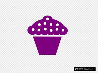 Cupcake Black Violeta