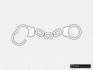 Handcuff Outline