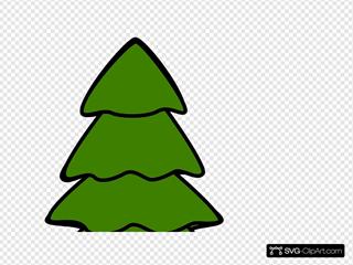 4 Layer Green Fir Tree SVG Clipart