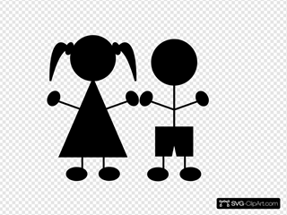 Kids Silhouette Children