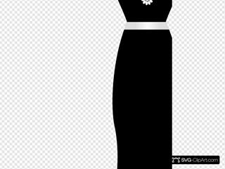 Black Dress On Stand
