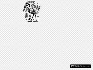 Ancient Mexico Motif Bird