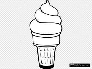 Soft Serve Ice Cream Cone (b And W)