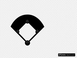 Black Baseball Field