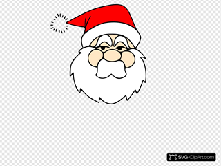 Santa Line Art