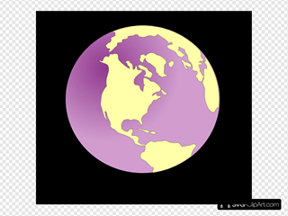 Purple Tinted Earth Black Background