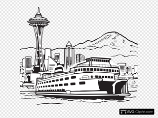 Space Needle And Ferry