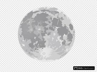 Full Moon SVG Clipart