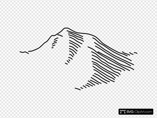Negative Of Mountain Line Drawing