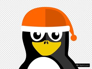 Penguin Wearing Winter Hat