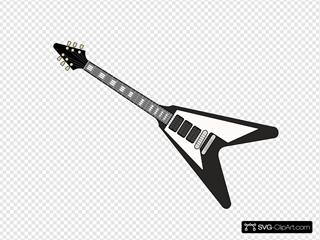 Black Flying V Guitar