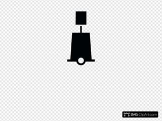 Nchart Symbol Int Towerbeacon Green Cylindricaltm Clipart