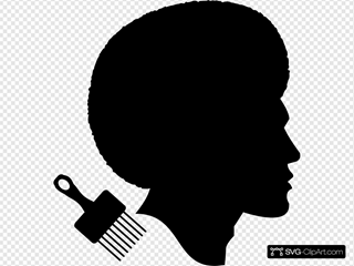 African American Afro Male Profile