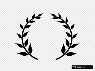 Black Laurel Wreath