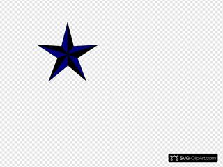 Navy Blue & Black Texas Star