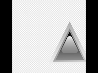 Led Triangular Black