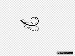 Black Swirl For Robin SVG Clipart