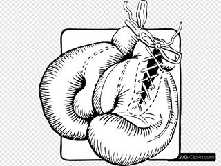 Boxing Gloves Outline