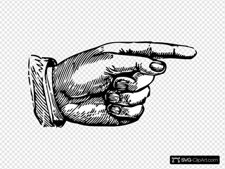 Pointing Hand SVG Clipart