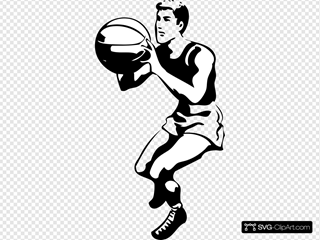 Basketball Player SVG Clipart