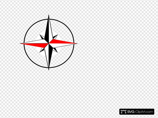 Compass Red Black