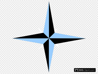 Blue And Black Compass