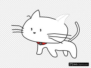 White Cartoon Cat