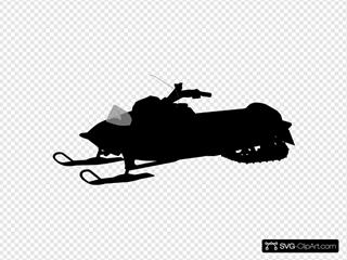 Snowmobile Silhouette