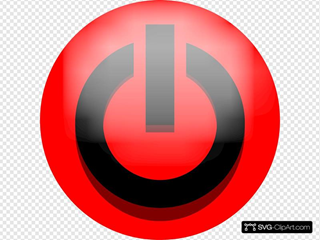 Red Power Icon Black