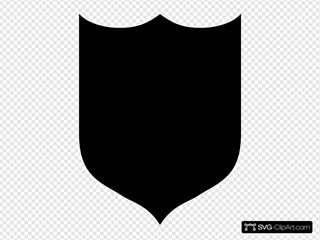 Solid Black Shield
