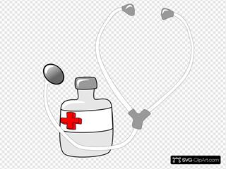 Metalmarious Medicine And A Stethoscope