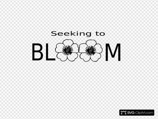 Seeking To Bloom Flowers