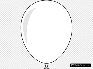 White Helium Balloon