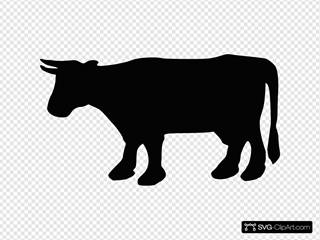 Cow Silhouette 1