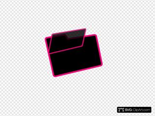 Black And Pink Folder