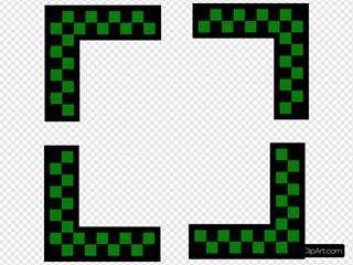 Corners Design Worldlabel Com Green Checkers