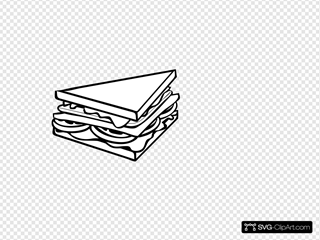 Sandwich Half B&w2