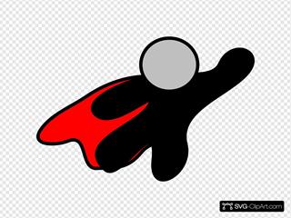 Red Cape Superhero