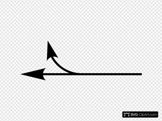 Left Forking Arrow