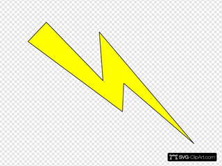 Lightning Yellow With Black Outline