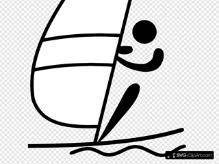 Olympic Sports Sailing Pictogram