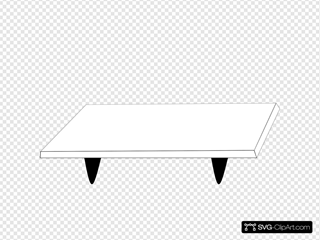 White Table Black Legs