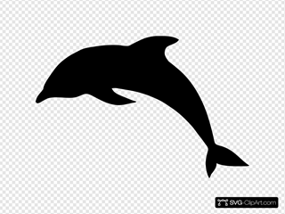 Dolphin Silhouette SVG Clipart